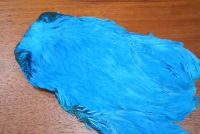 Lathkill Dyed Large Salmon Hen Cape Teal Blue