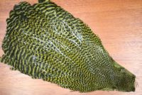 Hareline Hen Grizzly Dyed Olive