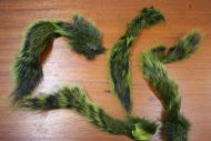 Grey Squirrel Tail Dyed Olive