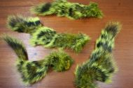 Grey Squirrel Tail Dyed Yellow