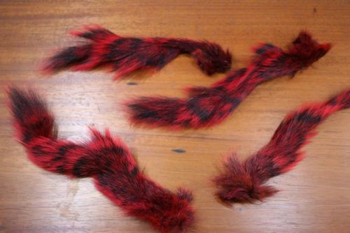 Grey Squirrel Tail Dyed Red
