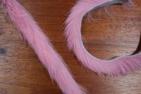 "1/4"" Magnum Rabbit Zonker Strips Salmon Pink"