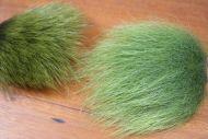 Polar Bear Skin Patch Long Olive
