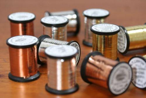 Lagartun Flat Metallic Tinsel Small Copper