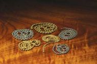 Bead Chain Eyes Medium Gold