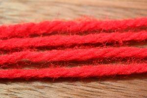 Aunt Lydias Sparkle Yarn Red