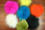 Arctic Fox Tail Hot Orange