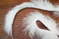 "1/8"" Rabbit Zonker Strips White"