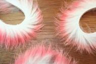 "1/8"" Two Toned Rabbit Zonker Strips Cotton/Candy"