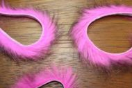 "1/8"" Two Toned Rabbit Zonker Strips Black/Hot Pink"