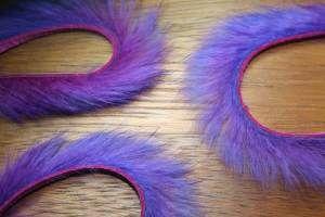 """1/8"""" Two Toned Rabbit Zonker Strips Purple/Claret"""