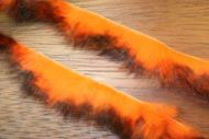 "1/8"" Crosscut Two Toned Rabbit Strips Black/Flo Orange"