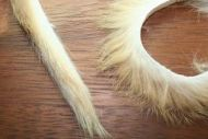 "1/4"" Magnum Rabbit Zonker Strips Natural Light Brown"