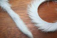 "1/4"" Magnum Rabbit Zonker Strips Grey"