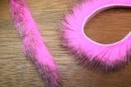"1/4"" Two Toned Magnum Rabbit Zonker Strips Black/Hot Pink"