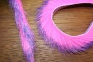 "1/4"" Two Toned Magnum Rabbit Zonker Strips Purple/Hot Pink"