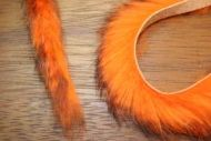 "1/4"" Two Toned Magnum Rabbit Zonker Strips Black/Flo.Orange"