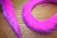 "1/4"" Two Toned Magnum Rabbit Zonker Strips Purple /Flo.Fuchsia"