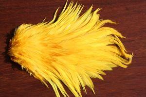 Indian Cock Saddle Dyed Sunburst Yellow