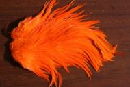 Indian Cock Saddle Dyed Hot Orange