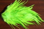 Indian Cock Saddle Dyed Chartreuse