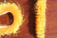 Tiger Barred Rabbit Strips Black Barred Yellow/Hot orange