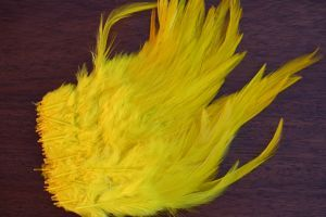 Strung Cock Saddle Hackles Yellow