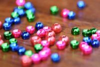 Met. Coloured Tungsten Beads 3.5mm Blue