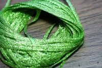Hareline Mini Flat Fly Braid Chartreuse Lime