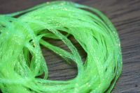 Hareline Mini Flat Fly Braid Flo Chartreuse