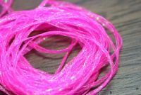 Hareline Mini Flat Fly Braid Flo Pink