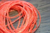 Hareline Mini Flat Fly Braid Flo Orange