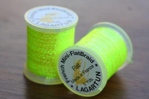 Lagartun Mini Flat Braid Flo Yellow