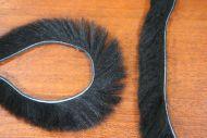 "1/8"" Fluffy Bunny Strips Black"
