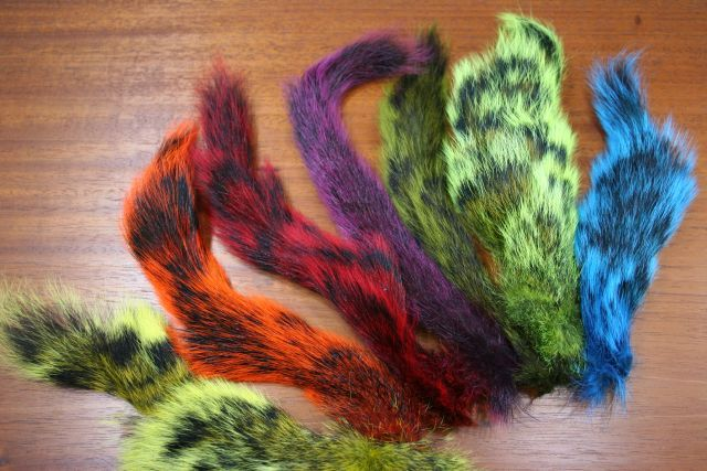 Dyed Grey Squirrel Tails