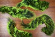 Grey Squirrel Tail Dyed Flo Green