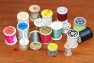 17 spools of wire and tinsel and thread part used