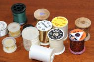 13 Spools of part used tinsel, thraed and wire