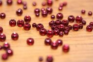 Lathkill Mettaliic Coloured Brass Beads Red/Dark Red 3.8mm