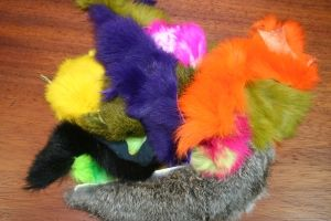 Hareline Rabbit Hide Pieces Variety Pack