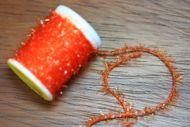 Ice Straggle Cactus Chenille Extra Fine Orange