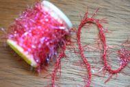 UV Straggle Cactus Chenille Standard Red.