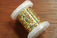 Holographic Tinsel Small Gold