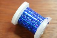 Holographic Tinsel Large Blue