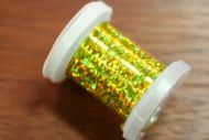 Holographic Tinsel Small Chartreuse/Yellow