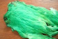 Indian Hen Cape Dyed Green