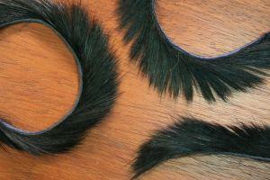 "1/8"" Rabbit Zonker Strips Black"