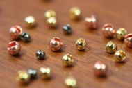 Slotted Tungsten Beads 2.5mm Nickel