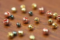 Slotted Tungsten Beads 2mm Gold