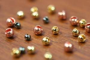 Slotted Tungsten Beads 2mm Copper